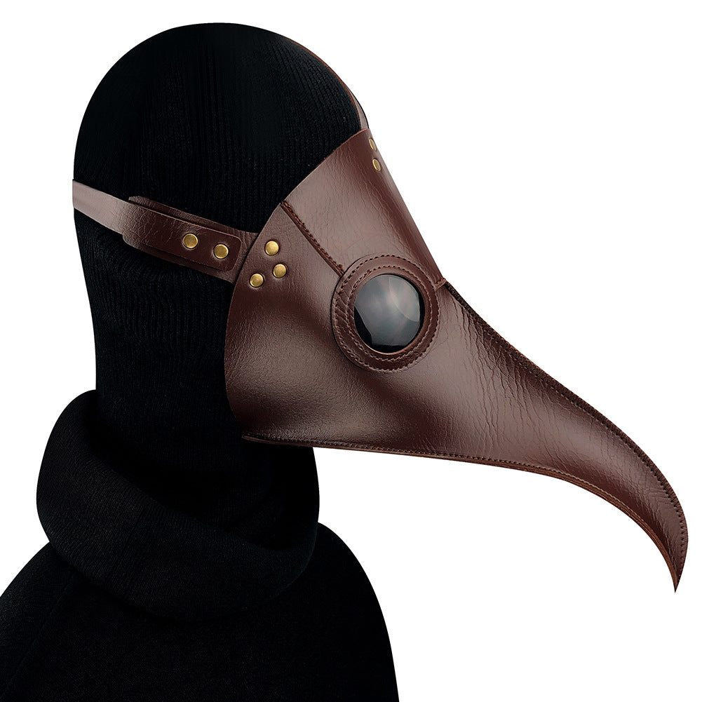 Brown Plague Long Bird Mouth Doctor Dance Mask