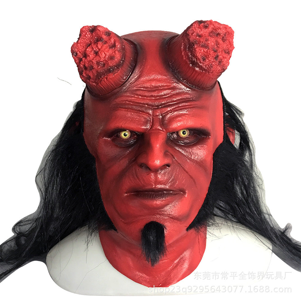 Halloween Hell Baron Mask Horror Hellboy Headgear