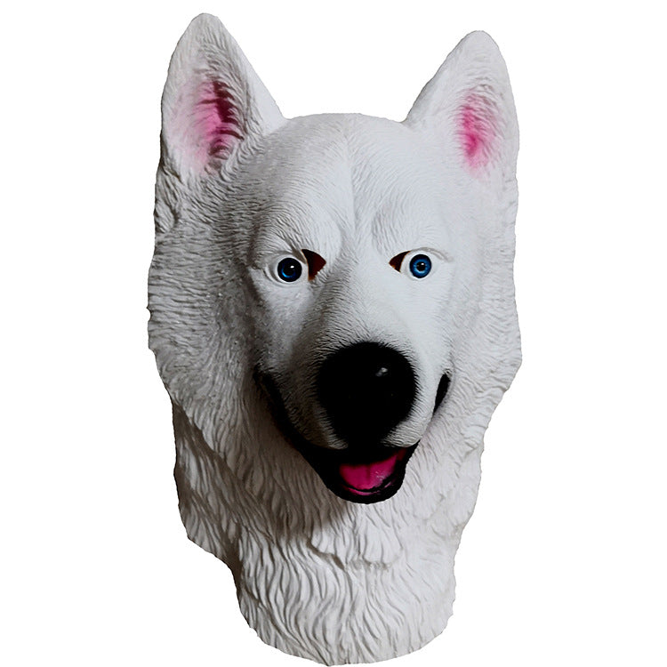 Halloween Husky Dog Latex Mask Fancy Dress Animal Masks