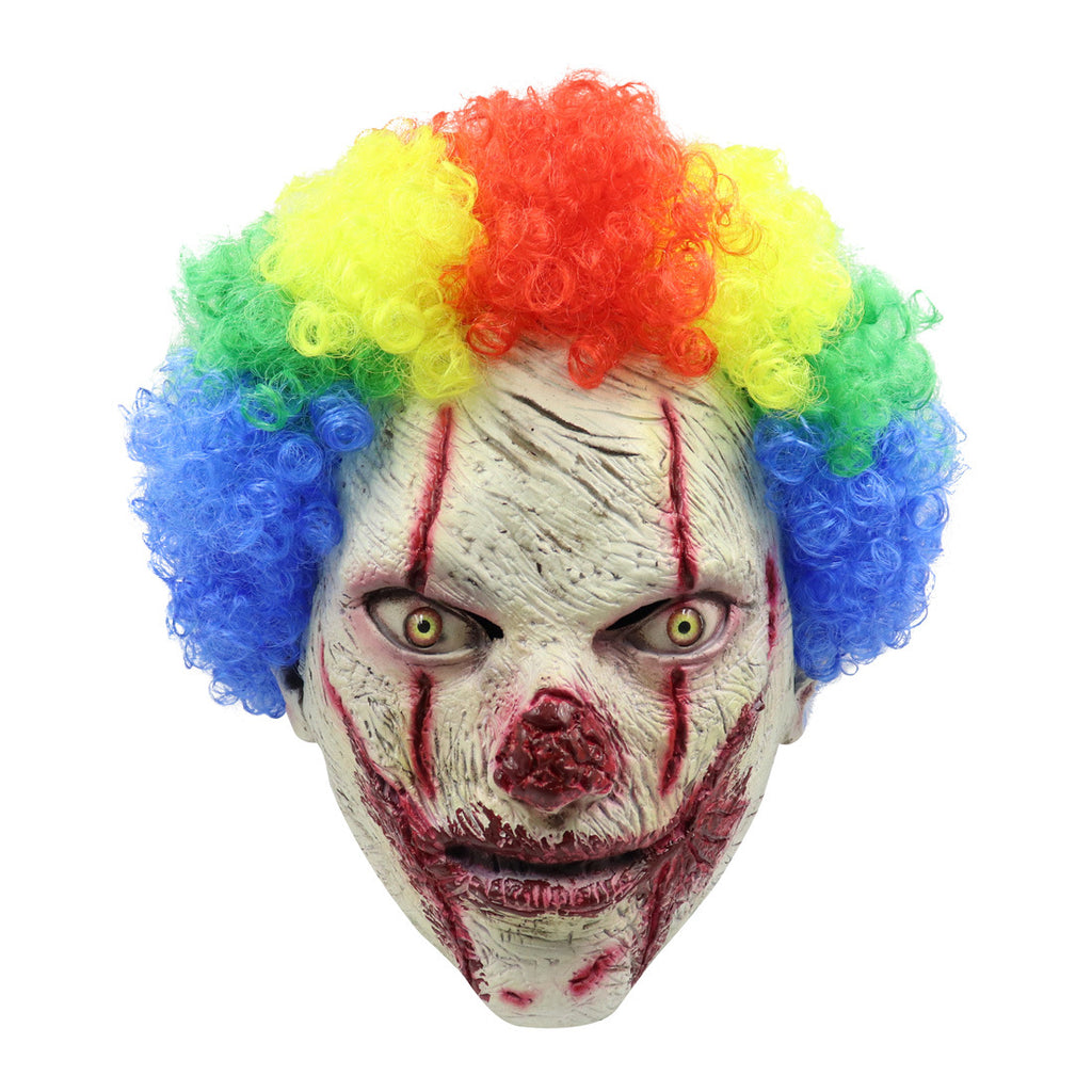 Clown Head Mask Halloween Costume Party Latex Creepy Mask