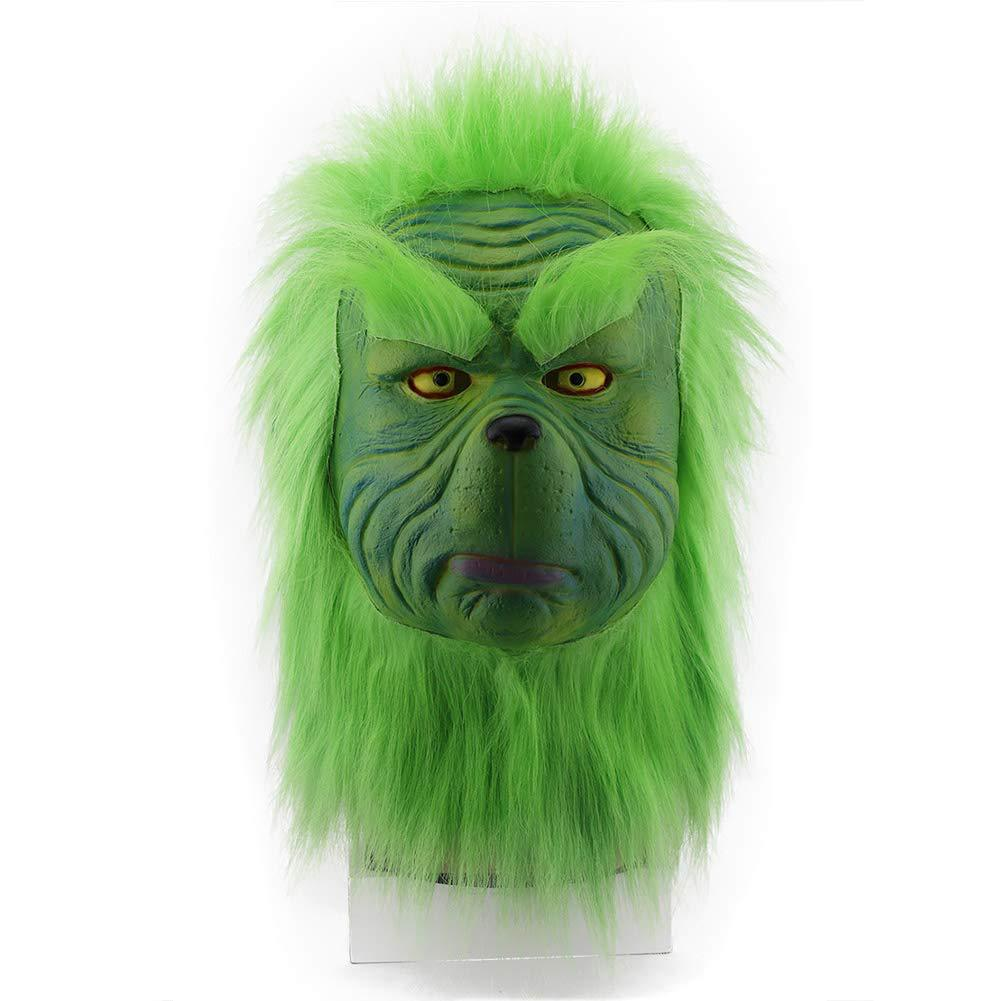 Deluxe Green Grinch Costume with Mask For Halloween