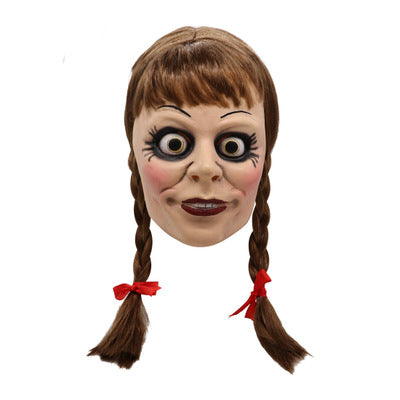 Halloween Costume Horrible Movie Doll Annabelle Mask