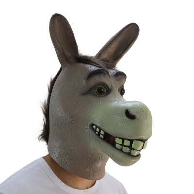 Halloween Donkey Horror Full Face Latex Mask