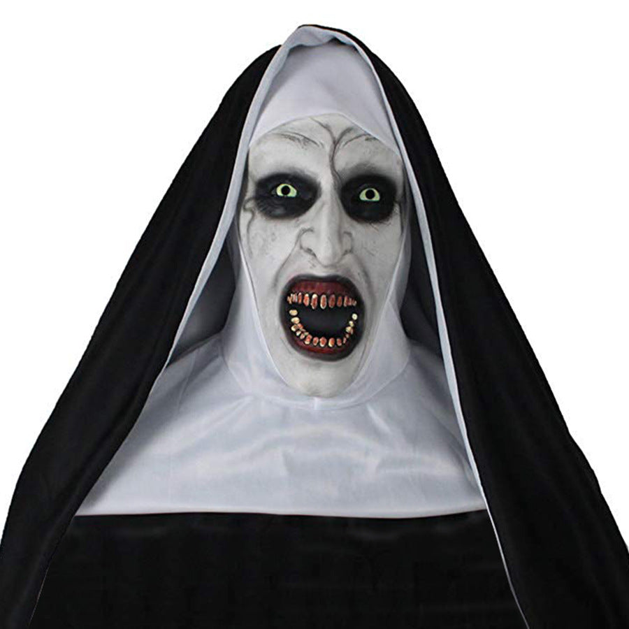 The Nun Devil Valak Mask Deluxe Latex Scary Full Head Halloween Masks