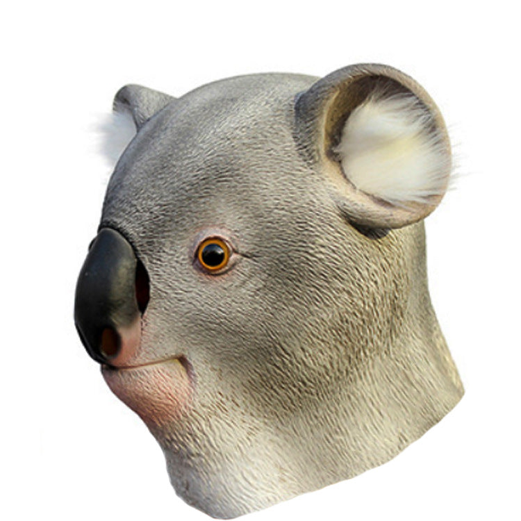 Novelty Halloween Latex Animal Head Koala Mask