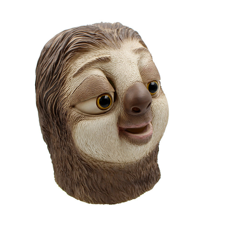 Zootopia Sloth Flash Latex Head Animal Masks Makeup Halloween Cosplay