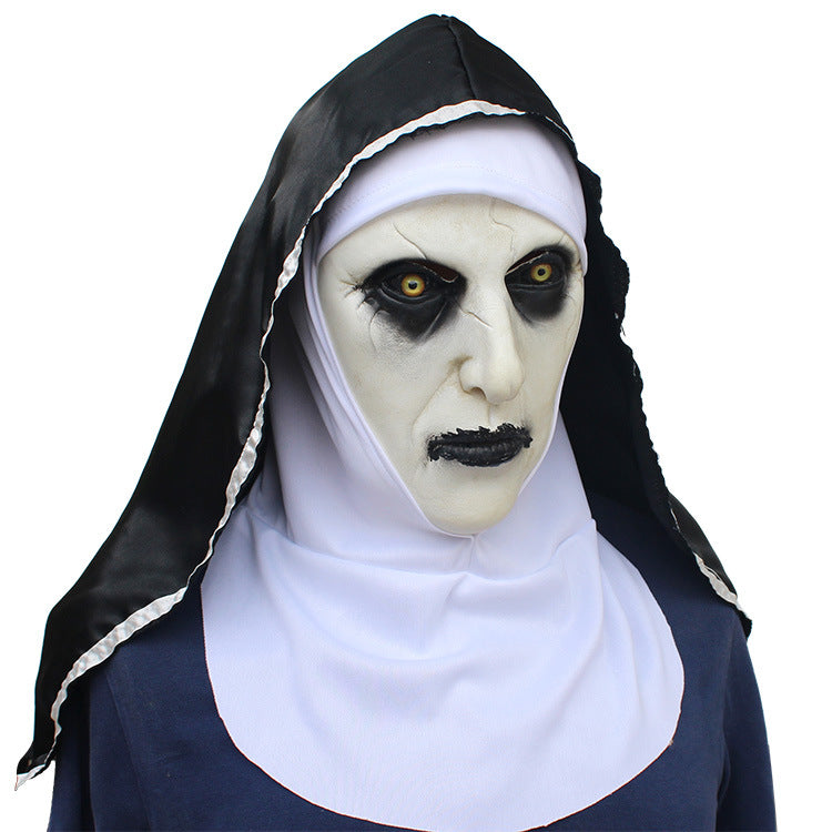 Calligraphy 2 Nuns Halloween Ghost Festival Mask