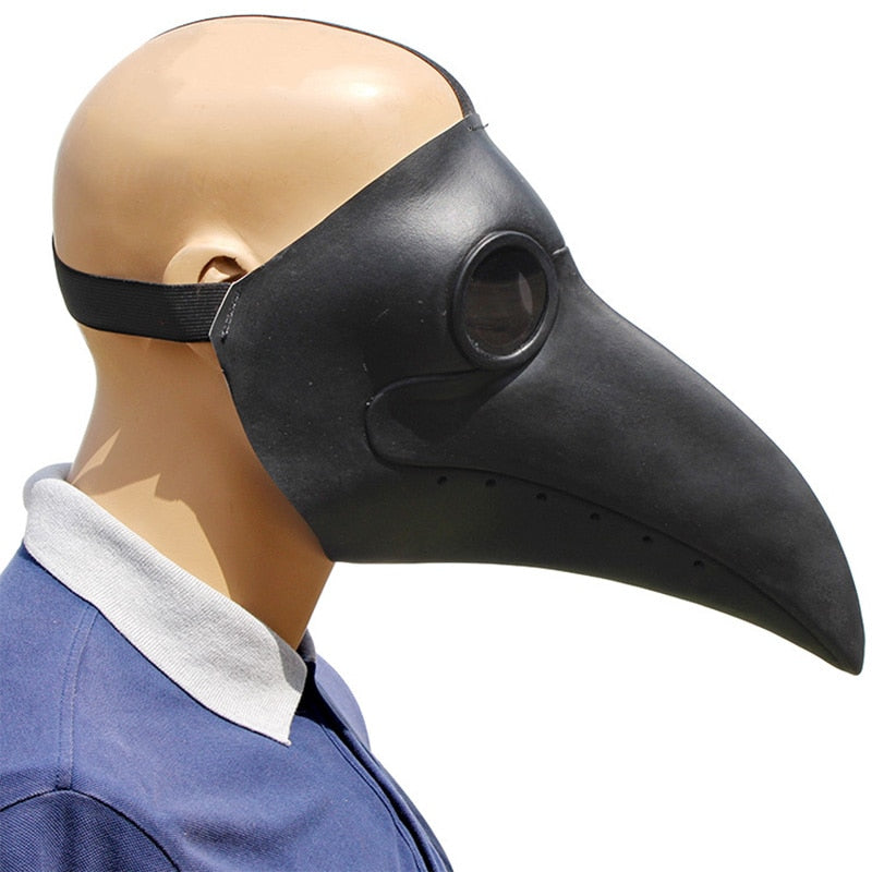 Cosplay Steampunk Plague Doctor Long Nose Latex Bird Beak Masks