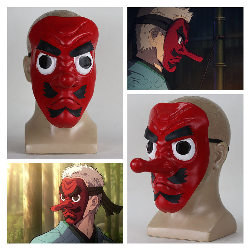 Sakonji Cosplay Demon Slayer Kimetsu no Yaiba Urokodaki Mask