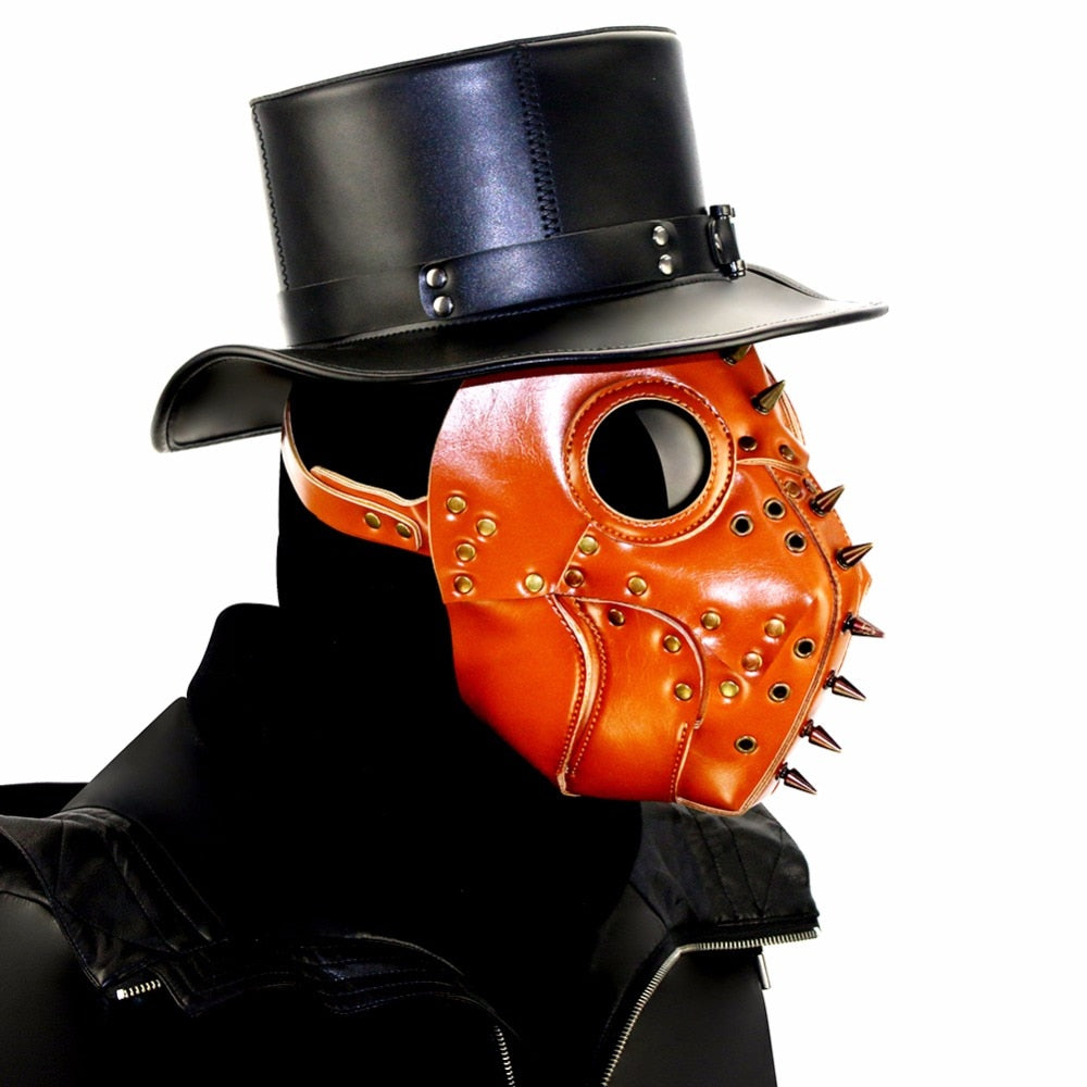 Plague Doctor Devil Mask Halloween Retro Brown Cosplay Mask