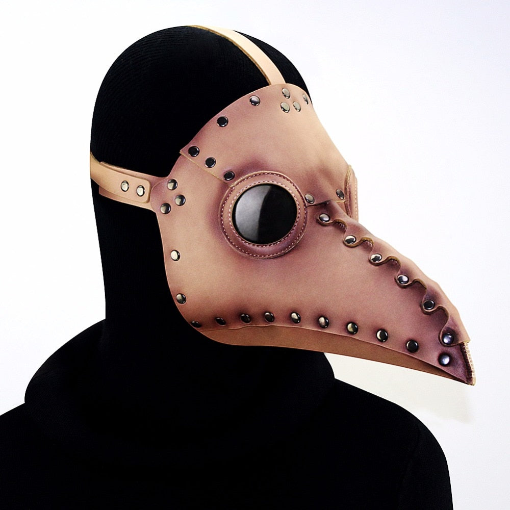 PU Bird Mouth Mask Steampunk Plague Doctor Masks Masquerades