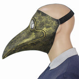 Gold Cosplay Steampunk Plague Doctor Mask Bird Beak Masks