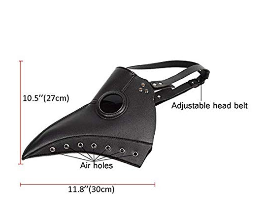 Plague Doctor Mask Nose Bird Beak Steampunk Halloween Mask