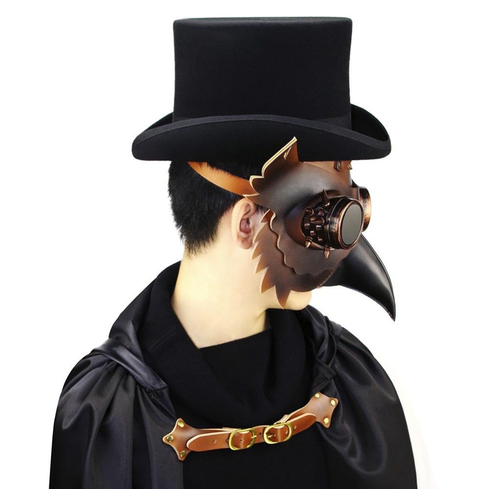 Steampunk Plague Doctor Halloween Cosplay Party Mask