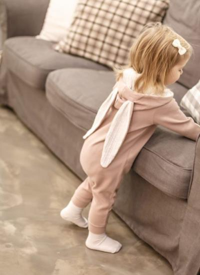 Rabbit Jumpsuit (Pink)