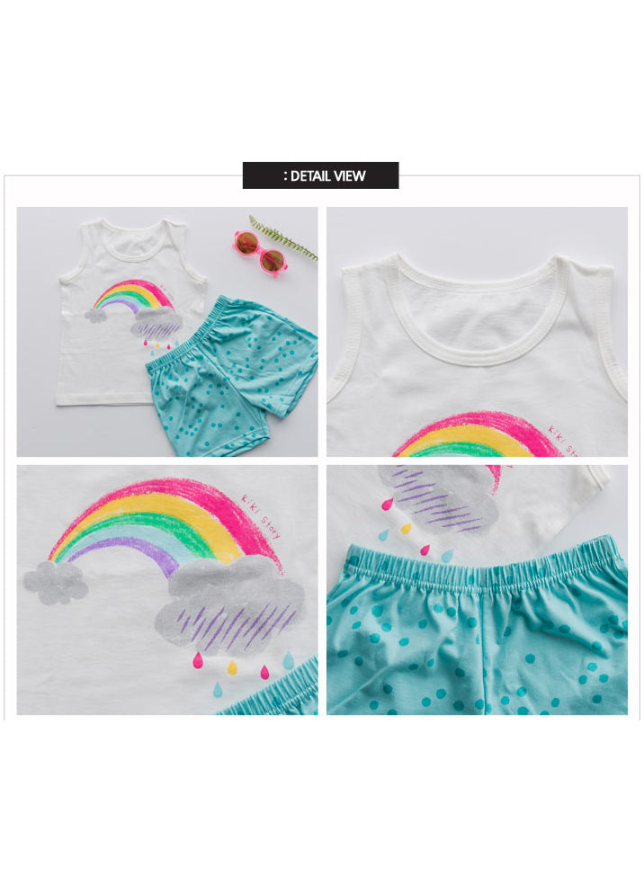 Rainbow Sleeveless + Shorts Set