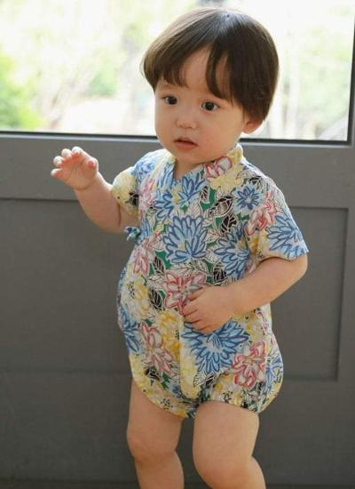 [LAST PIECE] Yukata Suit (Blue) (9-12M)