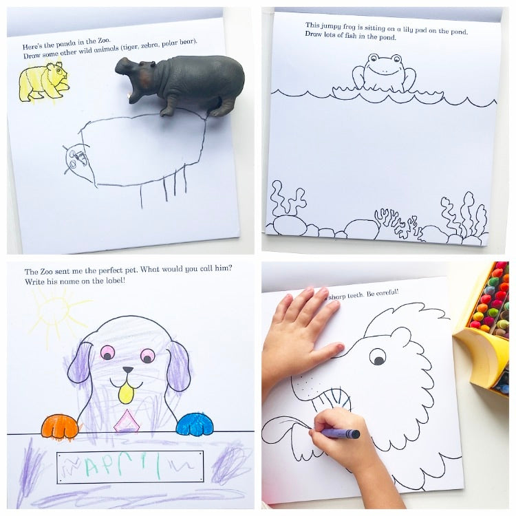 Dear Zoo Drawing and Colouring Book