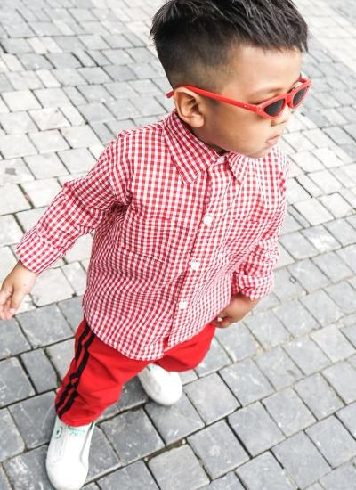 Owen Checkered Shirt (Red)