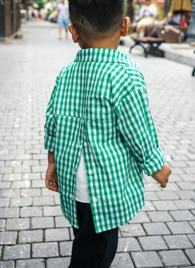 Owen Checkered Shirt (Green)