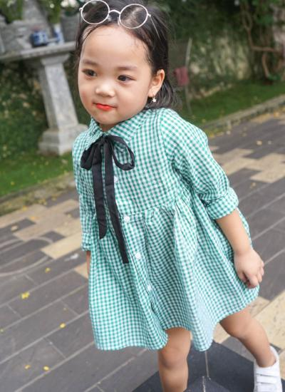Olivia Checkered Dress (Green)