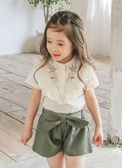 [LAST PIECE] Lilac Blouse (White) (6-7Y)