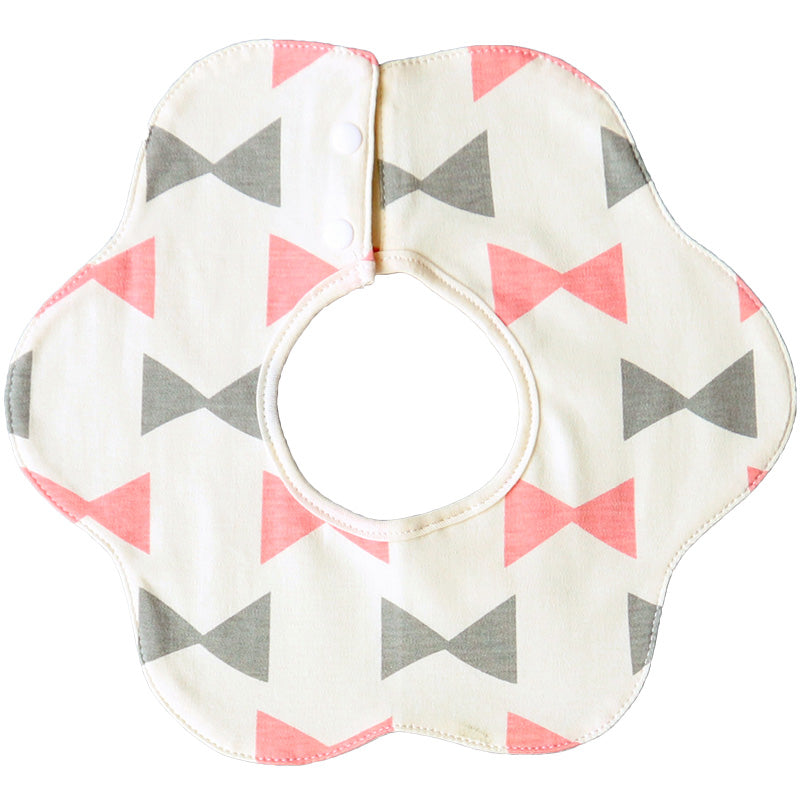Cream Ribbons 360° Collar Bibs (Set of 4)