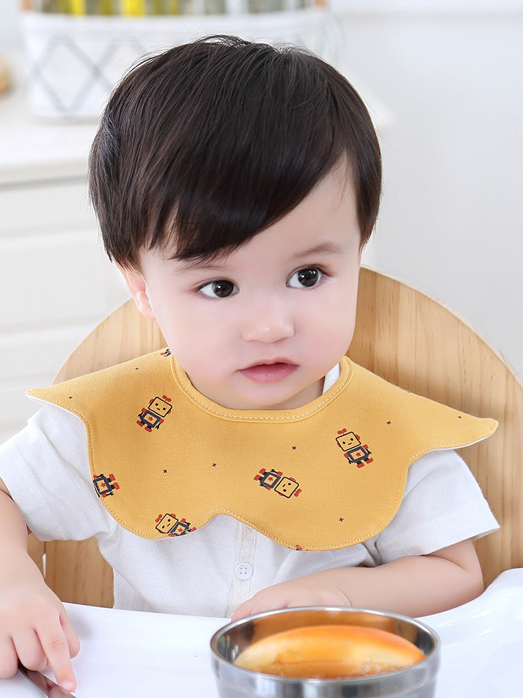 Navy Bear 360° Collar Bibs (Set of 4)