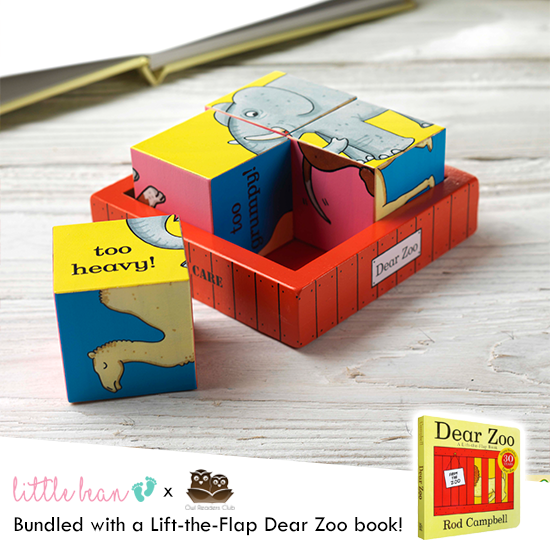 Dear Zoo Wooden Puzzle Blocks + Book Set
