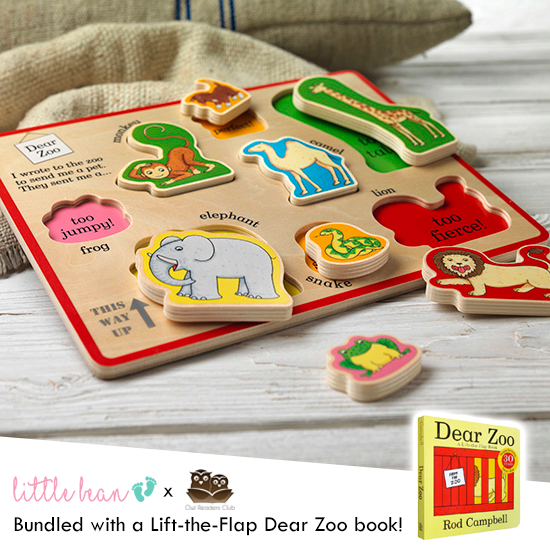 Dear Zoo Wooden Puzzle Tray + Book Set