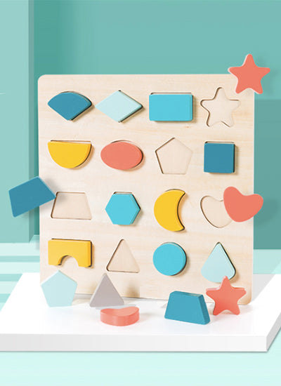 Geometric Shapes Puzzle Tray