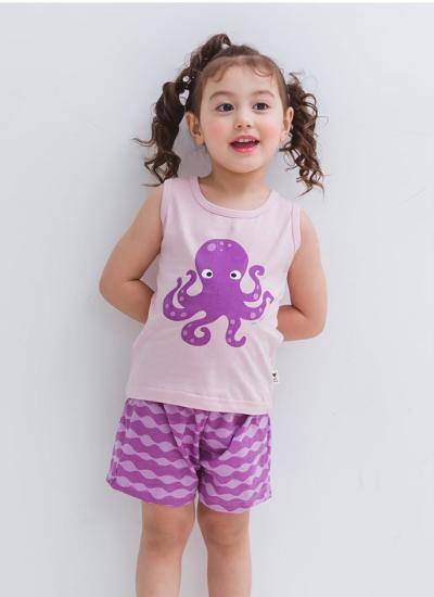 Miss Octopus Sleeveless + Shorts Set
