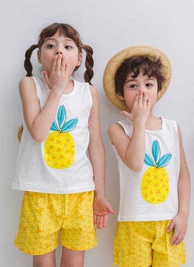 [LAST PIECE] Pineapple Sleeveless + Shorts Set (6-7Y)