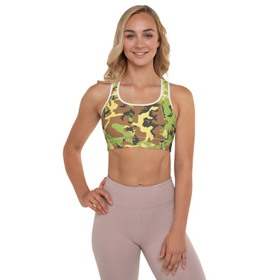 Green Camo Sports Bra - Kopersbay