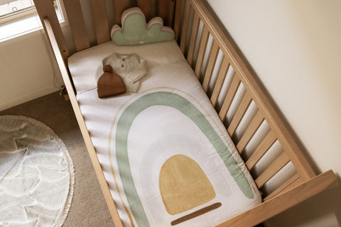 Baby Nursery Rainbow Earthy Tones