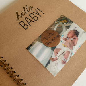 Small but Mighty Premature Baby NICU ScrapBook Baby Book