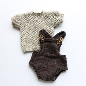 Premmie Knitted Set - Romper & Short-Sleeved Jumper
