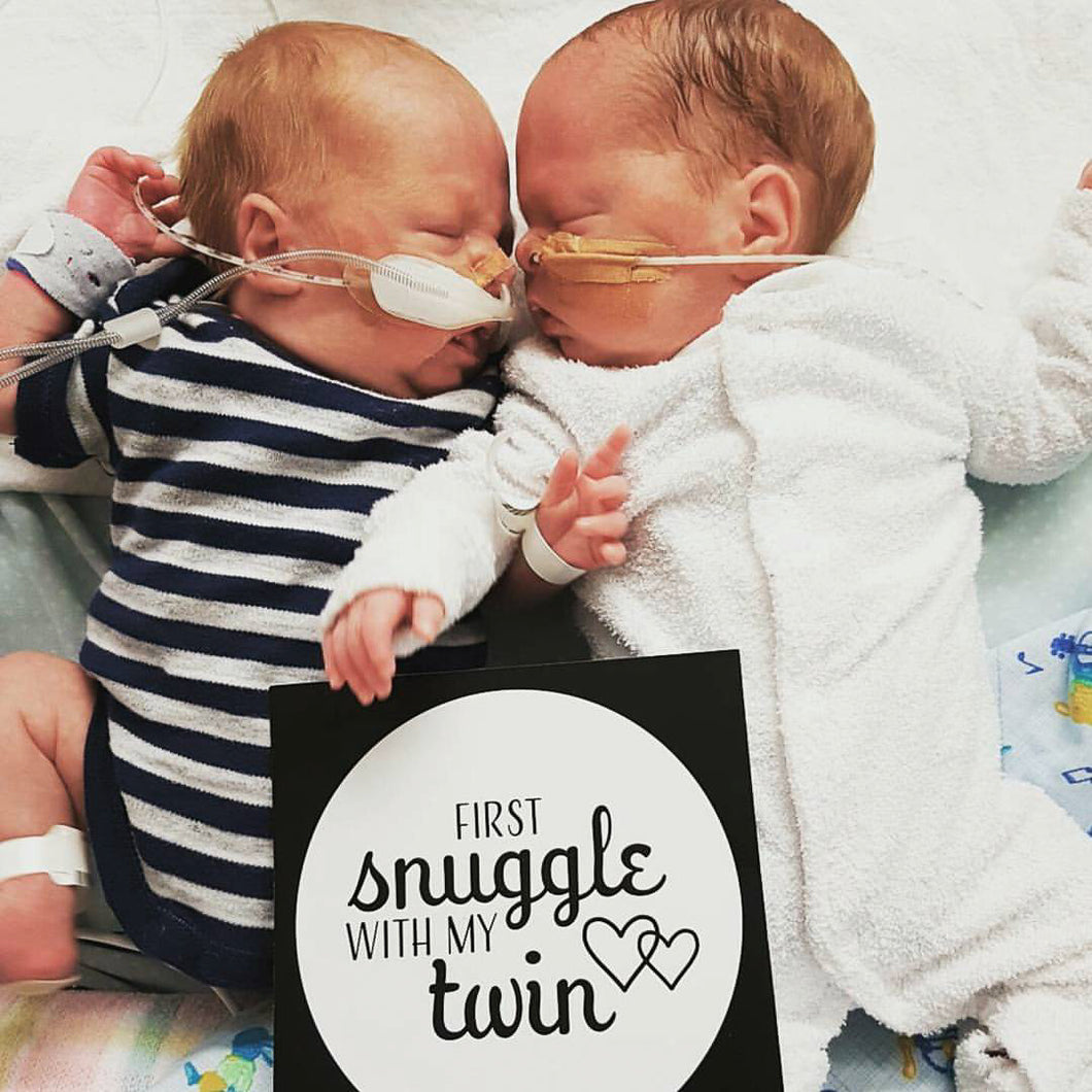 'We've Arrived' (Twin) Premature Baby Milestone Cards
