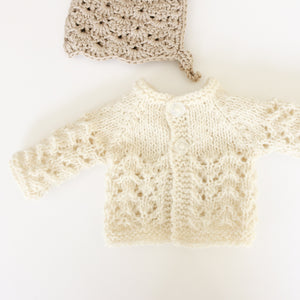 Premmie Knitted Cardigan - Cream