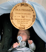 Load image into Gallery viewer, 'I'm a Premmie' Pram Tag - Bamboo