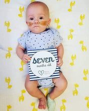Load image into Gallery viewer, 'He's Growing!' Age Premature Baby Milestone Cards