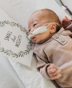 'Eucalyptus Wreath' Premature Baby Milestone Cards