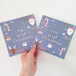 'My/Our First Christmas' Milestone Card