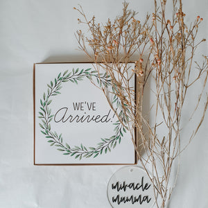 'We've Arrived' Eucalyptus (Twin) Premature Baby Milestone Cards