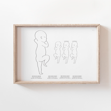 Load image into Gallery viewer, Angel Baby Birth Print Birth Poster Baby Announcement Nursery Art