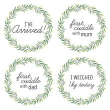 Load image into Gallery viewer, 'Eucalyptus Wreath' Premature Baby Milestone Cards