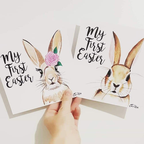 'My/Our First Easter' Milestone Card (single)
