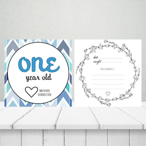 'He's Growing!' Age Premature Baby Milestone Cards