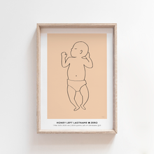 Load image into Gallery viewer, Baby Birth Print Birth Poster Baby Announcement Nursery Art