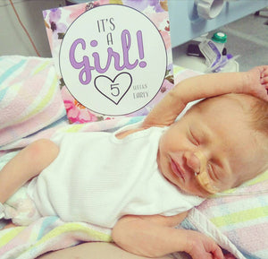 'It's a Girl' Premature Baby Milestone Cards